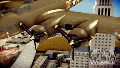 B-17G Flying Fortress pour GTA San Andreas vue de droite