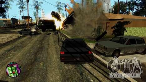 Transport V2 au lieu de balles pour GTA San Andreas huitième écran