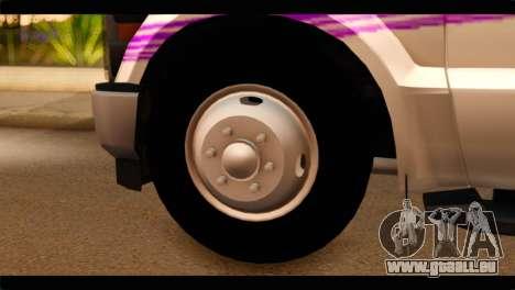 Ford F-350 Bus pour GTA San Andreas sur la vue arrière gauche
