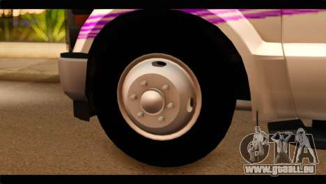 Ford F-350 Bus für GTA San Andreas zurück linke Ansicht