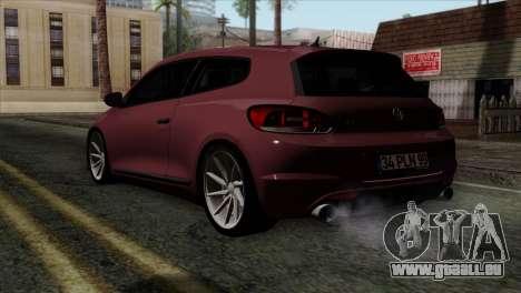 Volkswagen Scirocco R pour GTA San Andreas laissé vue