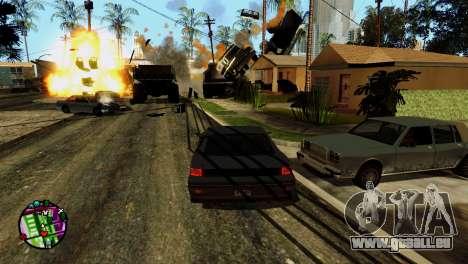 Transport V2 au lieu de balles pour GTA San Andreas neuvième écran