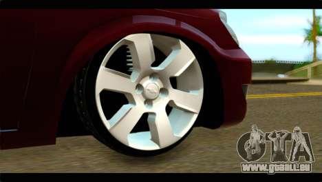 Chevrolet Celta VHC 1.0 pour GTA San Andreas sur la vue arrière gauche