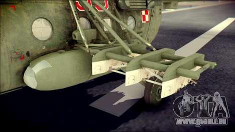 Mil Mi-8 Polish Air Force Afganistan pour GTA San Andreas vue de droite
