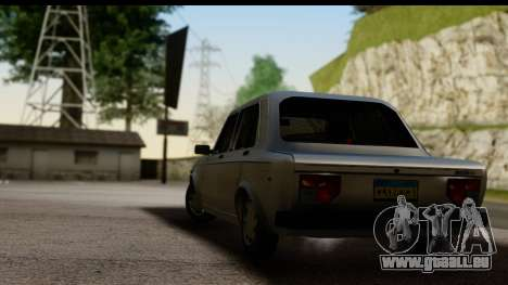 Fiat 128 pour GTA San Andreas laissé vue