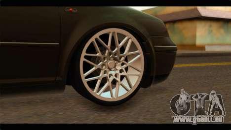 Volkswagen Bora 2007 pour GTA San Andreas sur la vue arrière gauche