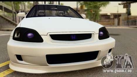 Honda Civic Si Coupe für GTA San Andreas zurück linke Ansicht