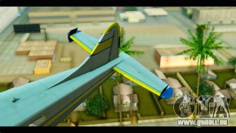 GTA 5 Sea Plane pour GTA San Andreas sur la vue arrière gauche
