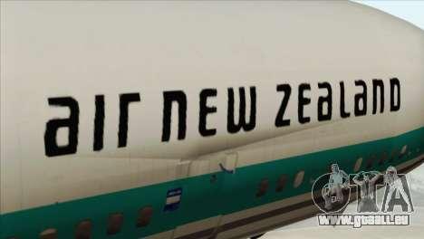 DC-10-30 Air New Zealand pour GTA San Andreas vue arrière