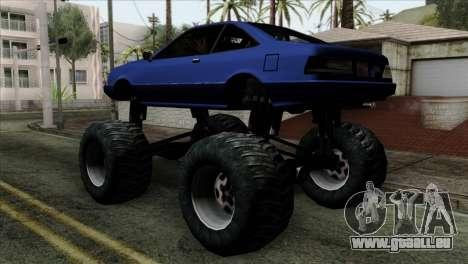 Monster Cadrona pour GTA San Andreas laissé vue