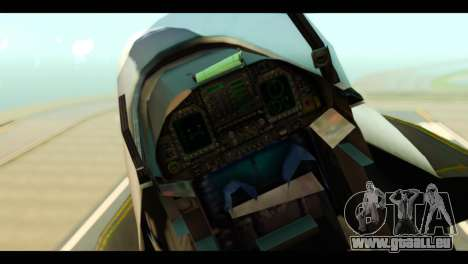 McDonnell Douglas FA-18 HARV v2 für GTA San Andreas Rückansicht