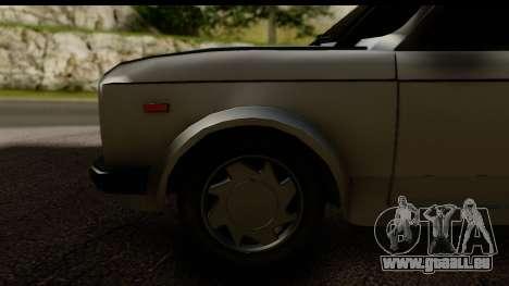 Fiat 128 pour GTA San Andreas vue arrière
