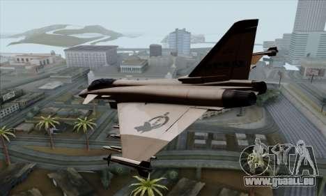 Eurofighter Typhoon 2000 UPEO pour GTA San Andreas laissé vue