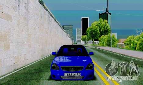 VAZ 2172 pour GTA San Andreas vue intérieure