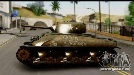 M4A1 Sherman First in Bastogne für GTA San Andreas zurück linke Ansicht
