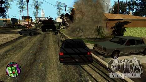 Transport V2 au lieu de balles pour GTA San Andreas sixième écran