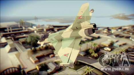 EuroFighter Typhoon 2000 Hungarian Air Force für GTA San Andreas linke Ansicht