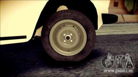 VAZ 2106 Stoke für GTA San Andreas zurück linke Ansicht