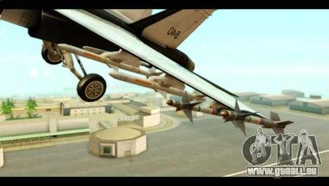 McDonnell Douglas FA-18 HARV v2 für GTA San Andreas rechten Ansicht