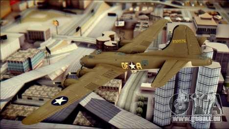 B-17G Flying Fortress pour GTA San Andreas laissé vue