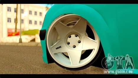 Peugeot 106 pour GTA San Andreas sur la vue arrière gauche