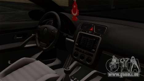 Volkswagen Scirocco R pour GTA San Andreas vue de droite