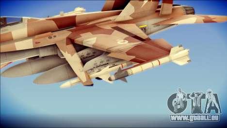 F-22 Raptor Starscream pour GTA San Andreas vue de droite