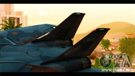 Grumman F-14D SuperTomcat Metal Gear Ray pour GTA San Andreas sur la vue arrière gauche