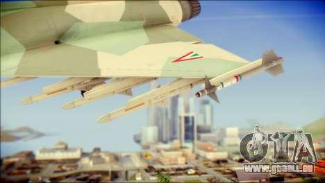 EuroFighter Typhoon 2000 Hungarian Air Force für GTA San Andreas rechten Ansicht