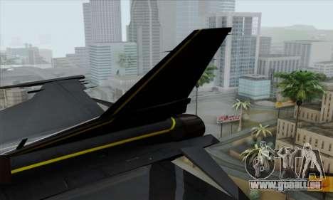 F-16XL pour GTA San Andreas sur la vue arrière gauche