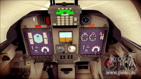 Embraer EMB-314 Super Tucano E pour GTA San Andreas vue arrière