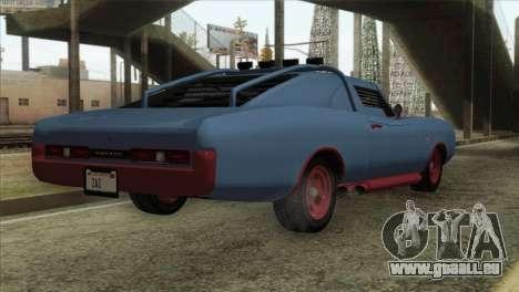 GTA 5 Imponte Dukes ODeath IVF pour GTA San Andreas sur la vue arrière gauche