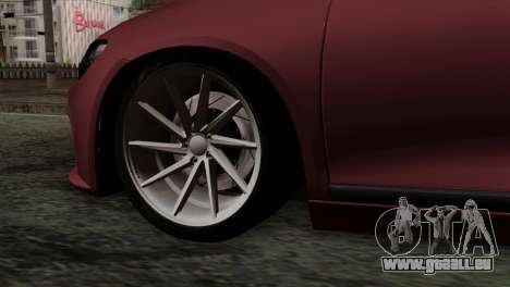 Volkswagen Scirocco R pour GTA San Andreas sur la vue arrière gauche
