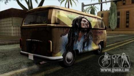 Volkswagen T2 Bob Marley für GTA San Andreas linke Ansicht