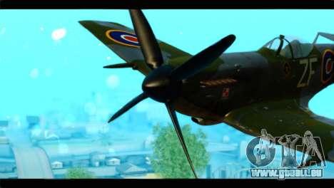 Supermarine Spitfire F MK XVI 318 SQ pour GTA San Andreas vue arrière