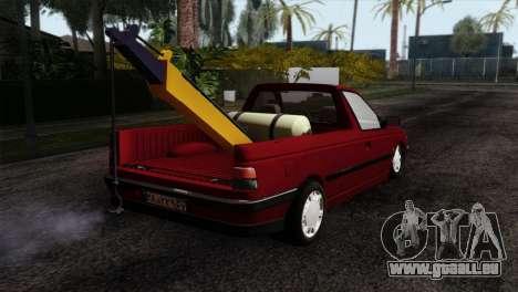 Peugeot 405 Pickup pour GTA San Andreas laissé vue