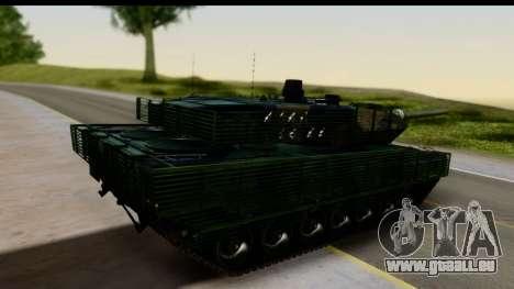 Leopard 2A6 Woodland pour GTA San Andreas laissé vue