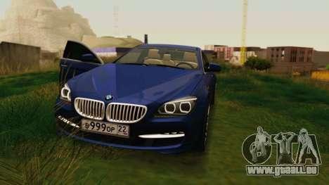 BMW 6 Series Gran Coupe 2014 pour GTA San Andreas vue arrière