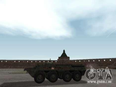 BTR-80 Avant pour GTA San Andreas sur la vue arrière gauche