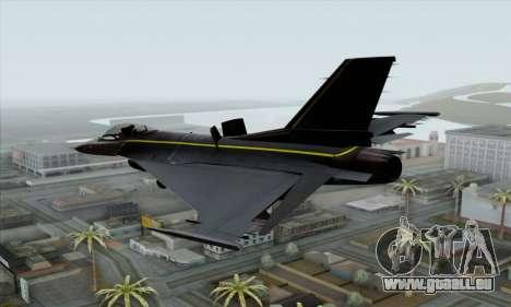 F-16XL pour GTA San Andreas laissé vue