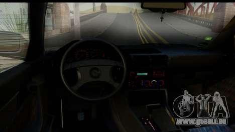 BMW 525i E34 pour GTA San Andreas vue intérieure
