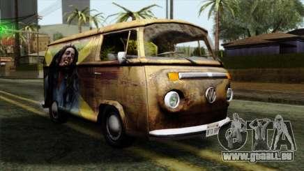 Volkswagen T2 Bob Marley pour GTA San Andreas