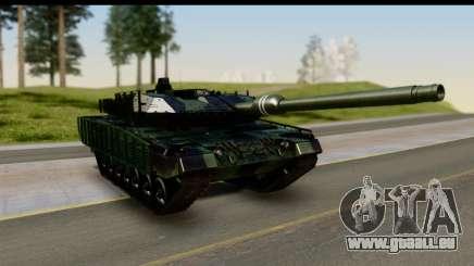 Leopard 2A6 Woodland pour GTA San Andreas
