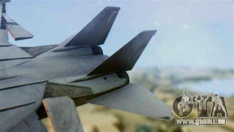 F-14A Tomcat VF-111 Sundowners Low Visibility pour GTA San Andreas sur la vue arrière gauche