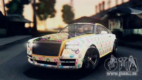 GTA 5 Enus Windsor pour GTA San Andreas vue de côté