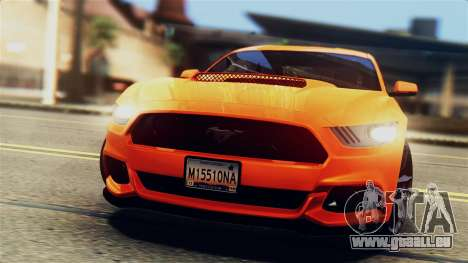 Ford Mustang GT 2015 Stock Tunable v1.0 pour GTA San Andreas vue de dessous