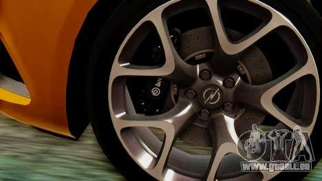 Opel Astra J OPC für GTA San Andreas rechten Ansicht