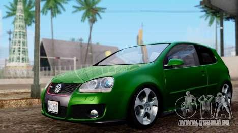 Volkswagen Golf Mk5 GTi Tunable PJ pour GTA San Andreas sur la vue arrière gauche
