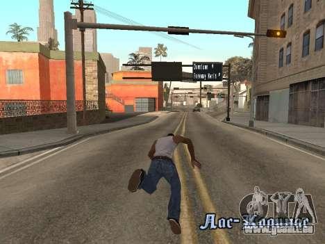Back Flip pour GTA San Andreas troisième écran