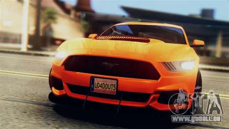 Ford Mustang GT 2015 Stock Tunable v1.0 pour GTA San Andreas salon